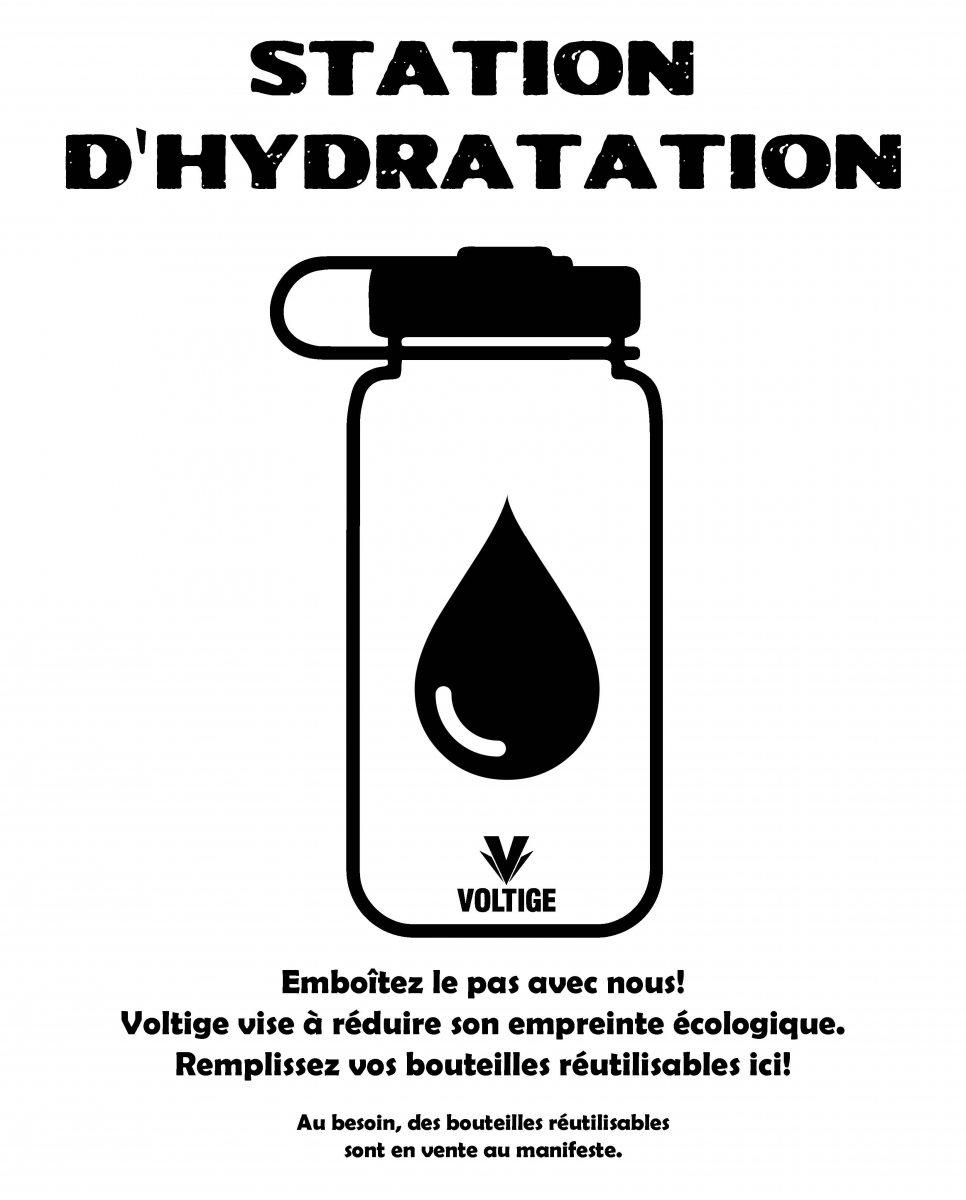 Station d'hydratation